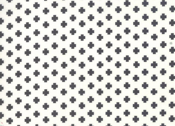 The Christmas Card - Crosses in Cream & Charcoal by Sweetwater by Moda