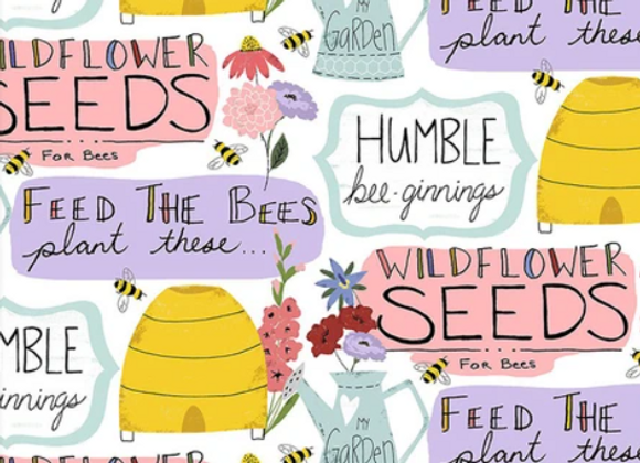 Feed the Bess -Garden Words- by 3 Wishes Fabric