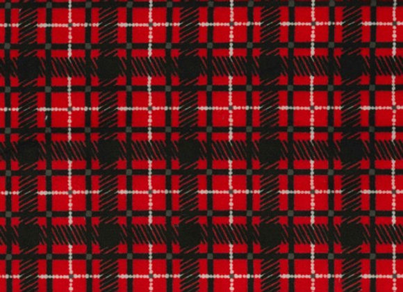 Plaid Plague Minky SMP8692-Red by Michael Miller Fabrics