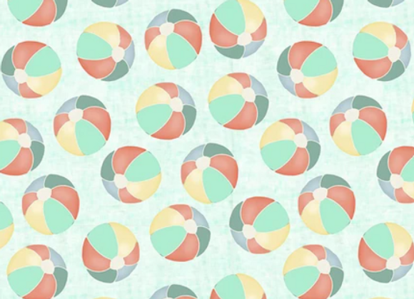 Beach Travel -Beach Balls- by 3 Wishes Fabric