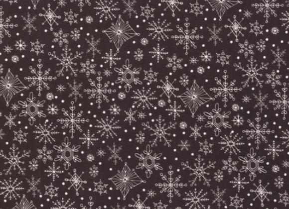 Tahoe Ski Week Black Diamond Snowflakes by Moda