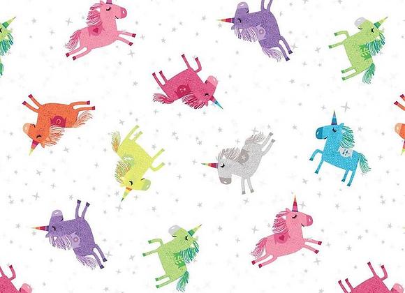 Clothworks Shine Bright Unicorns
