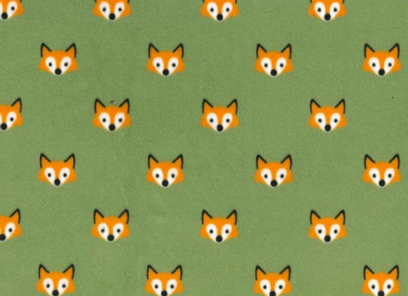 Fox Pups Minky SMP8128-leaf-d by Michael Miller Fabrics