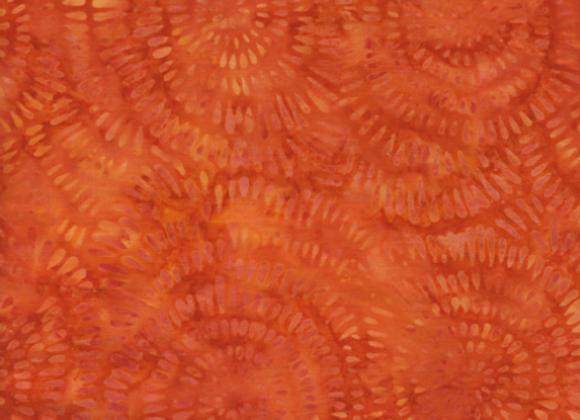 Island Batik Dandelions BE22-C2 Pumpkin