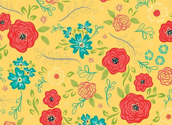 Wildflower Boutique Main Yellow C8830-YELLOW by Riley Blake