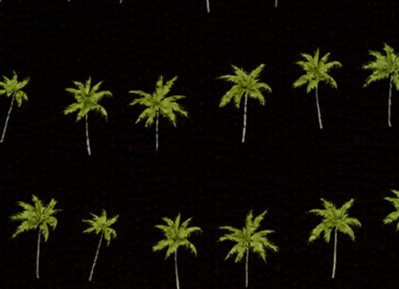 Palm Trees BLACK from Plissé Collection by Robert Kaufman