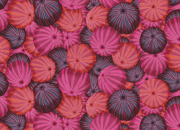 PWPj00-Red Sea Urchins Kaffe Fassett For Free Spirit