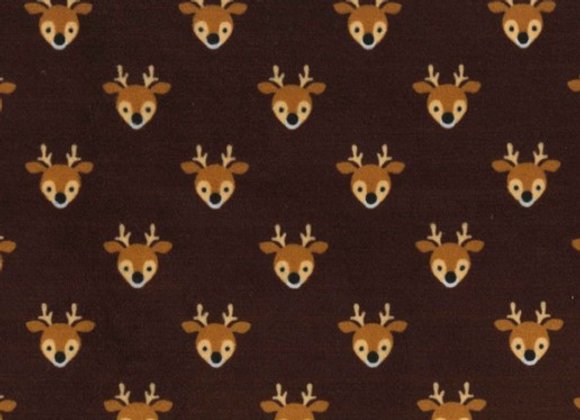 Young Bucks Minky SMP132-brown by Michael Miller Fabrics