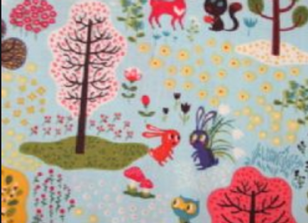 Forest Babes  Light Teal by Clothworks