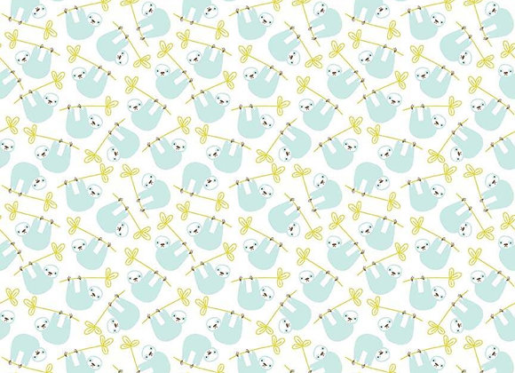 C8663-Sloth White Under the Canopy by Citrus Mint Designs for Ri