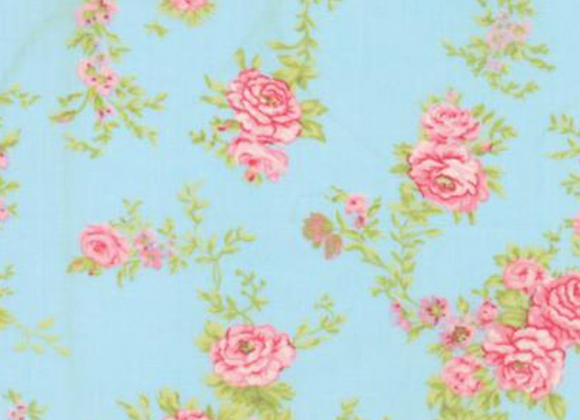 Moda Fleurs ClimbingBluebell Large Floral by Brenda Riddle