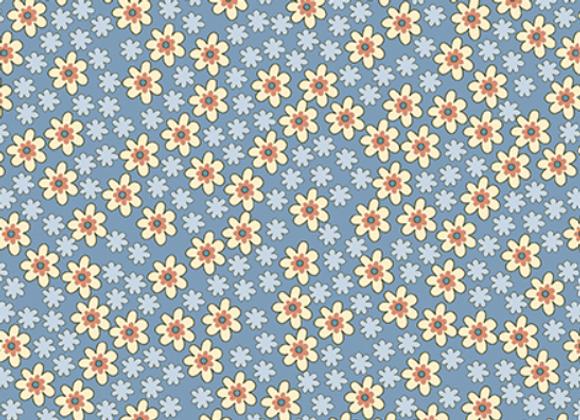 Benartex -Bonnie Lane- Blue Apron Pearlized by Pat Sloan