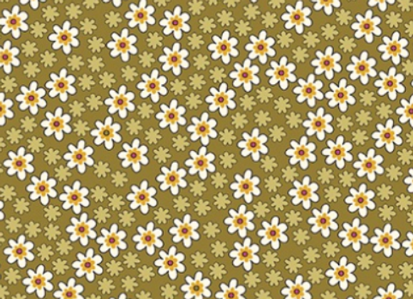 Benartex -Bonnie Lane- Mustard Apron Pearlized by Pat Sloan