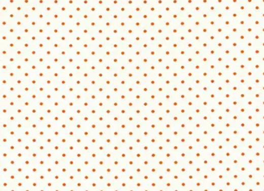 Swiss Dots Orange on Cream Dots by Riley Blake