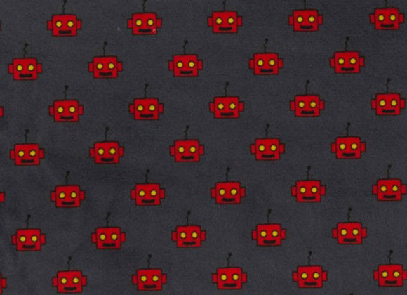 We Are The Robots Minky SMP8690-Gray-D by Michael Miller Fabrics