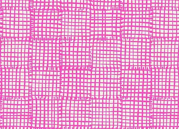 Andover -Cats and Dogs- Pink Grid A-8456-E