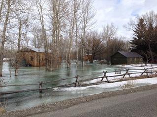 Gallatin River flood