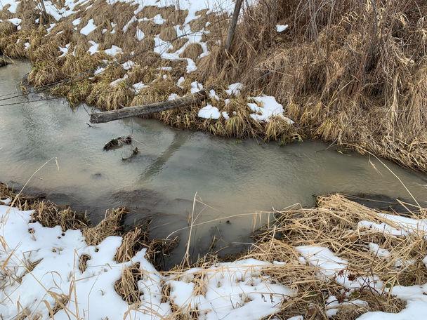 silt enters river