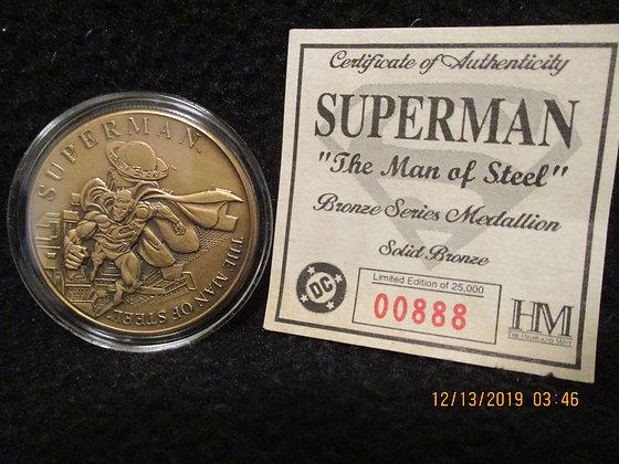Superman bronze medallion