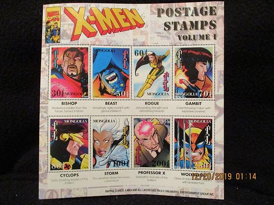 X-Men Mongolia postage stamps