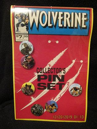 Wolverine pin/button set
