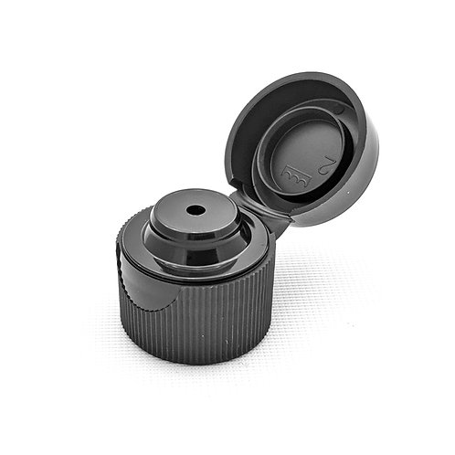 24/410 Black Unlined Snap Top Cap   SKU:BSC-119