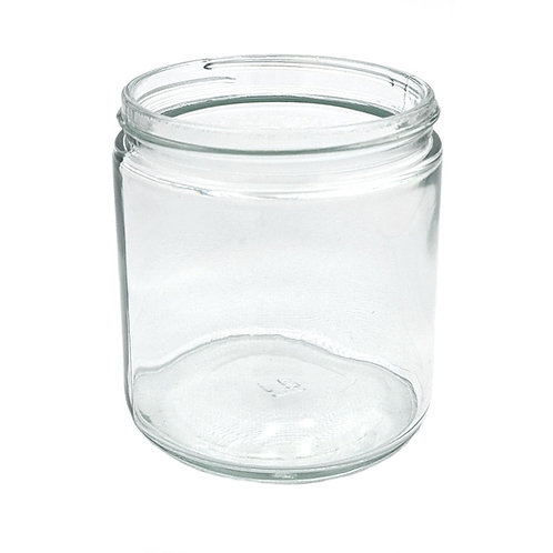 16oz Clear Glass Jar 89-400   SKU:BSJ-074