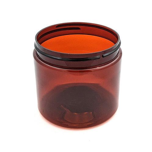 16oz Amber PET Jar 89-400   SKU:BSJ-083