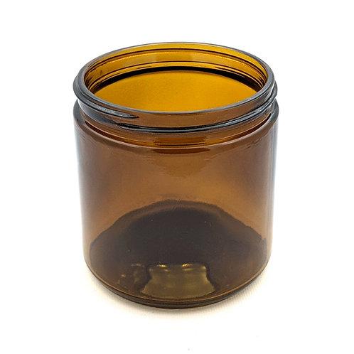 16oz Amber Glass Jar 89-400   SKU:BSJ-087