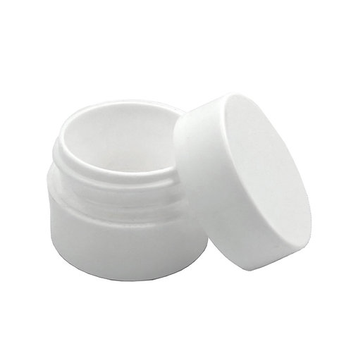 1/8oz White PP Jar W/White Cap   SKU:BSJ-064