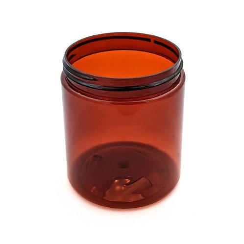 8oz Amber Pet Jar 70/400   SKU:BSJ-015