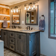 Slinger Rustic Bathroom Design Tech  Rem