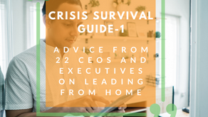 Crisis Survival Guide 1- Advice from 22 CEO's & Executives on Leading from Home