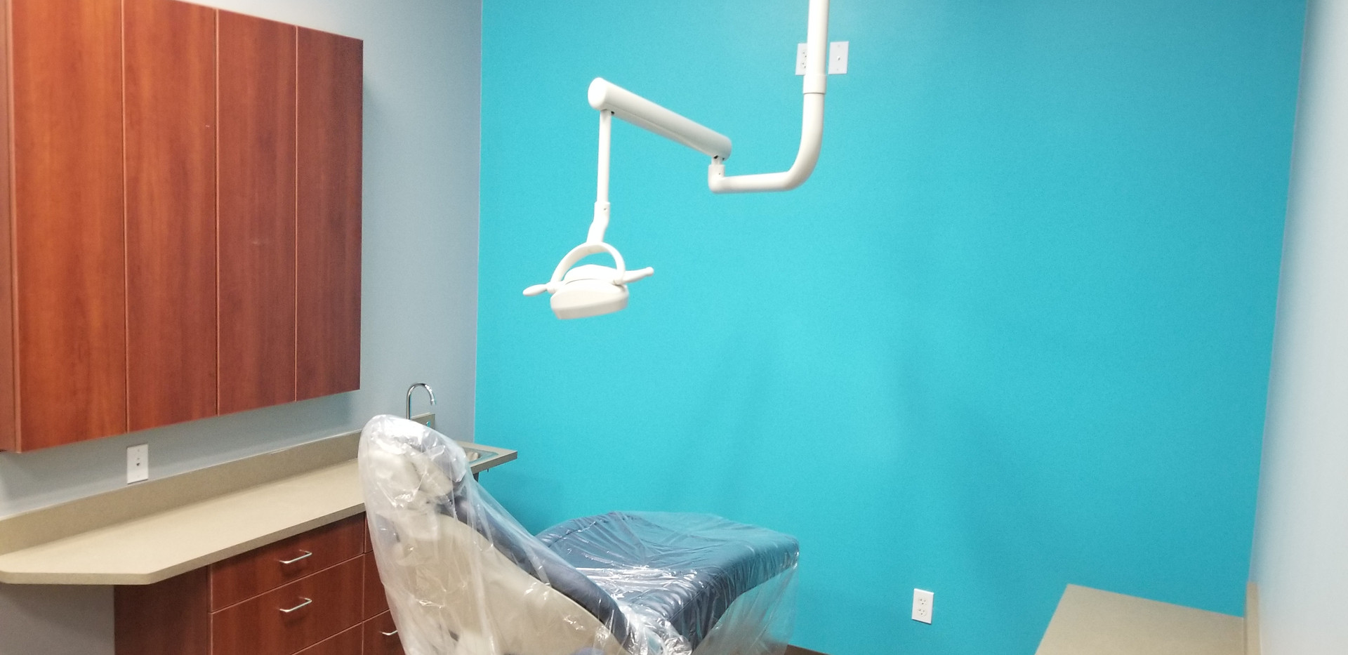Higher Up View of Dental Room - Buildout Pros