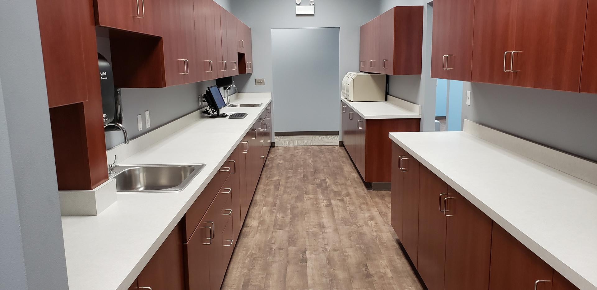 Wide View of Dentist Walk Through - Buildout Pros