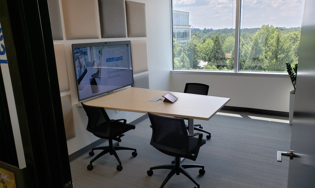 Glass Window Meeting Room - Buildout Pros