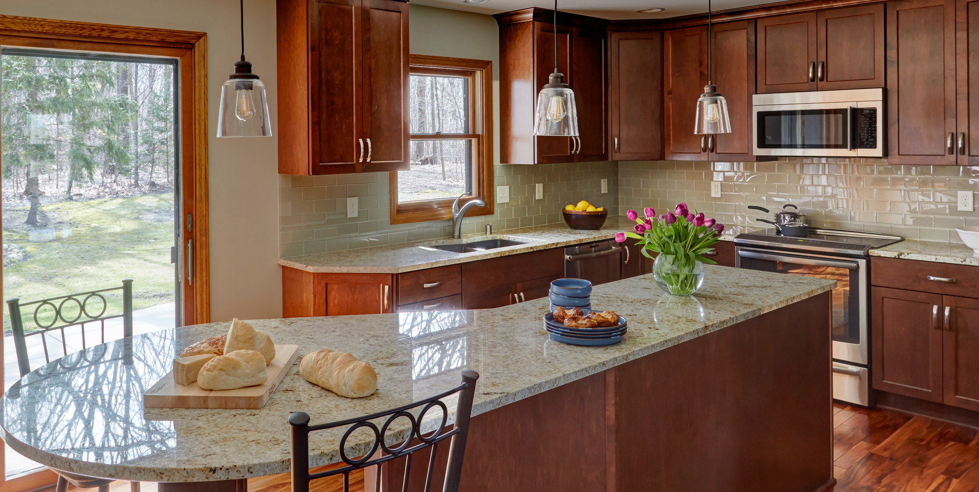 West Bend Transitional Kitchen - After