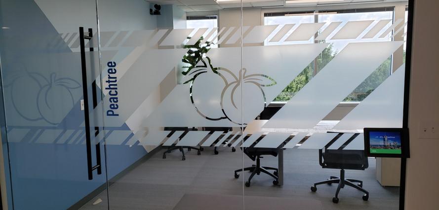 Glass Sliding Office Door - Buildout Pros