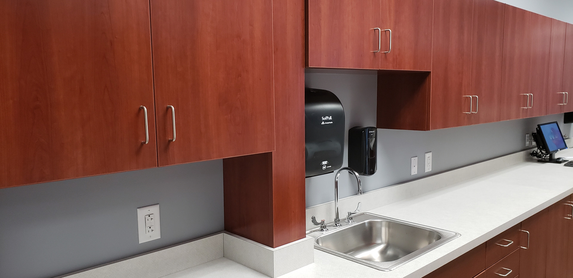 Handwashing Station with Counter Space - Buildout Pros