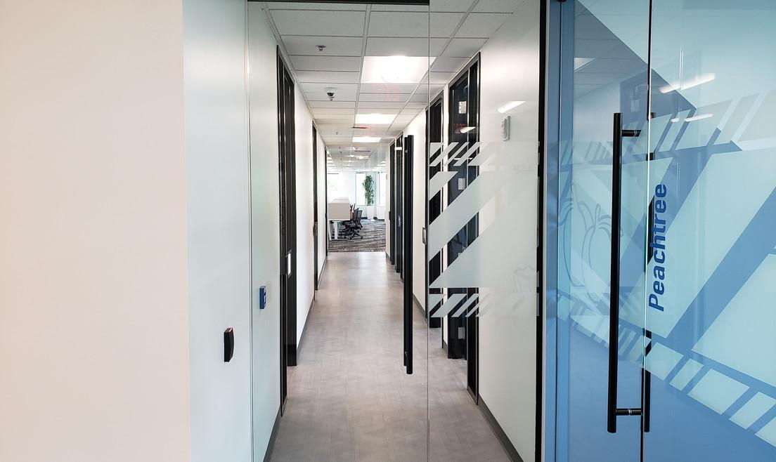 Long Office Hallway - Buildout Pros