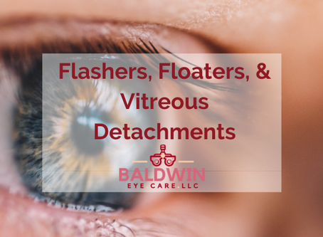 Flashers, Floaters, and Vitreous Detachments