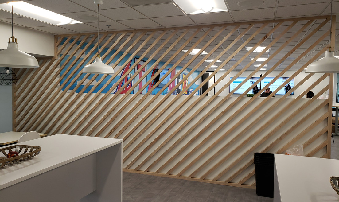 Office Front Wall with Logo - Buildout Pros