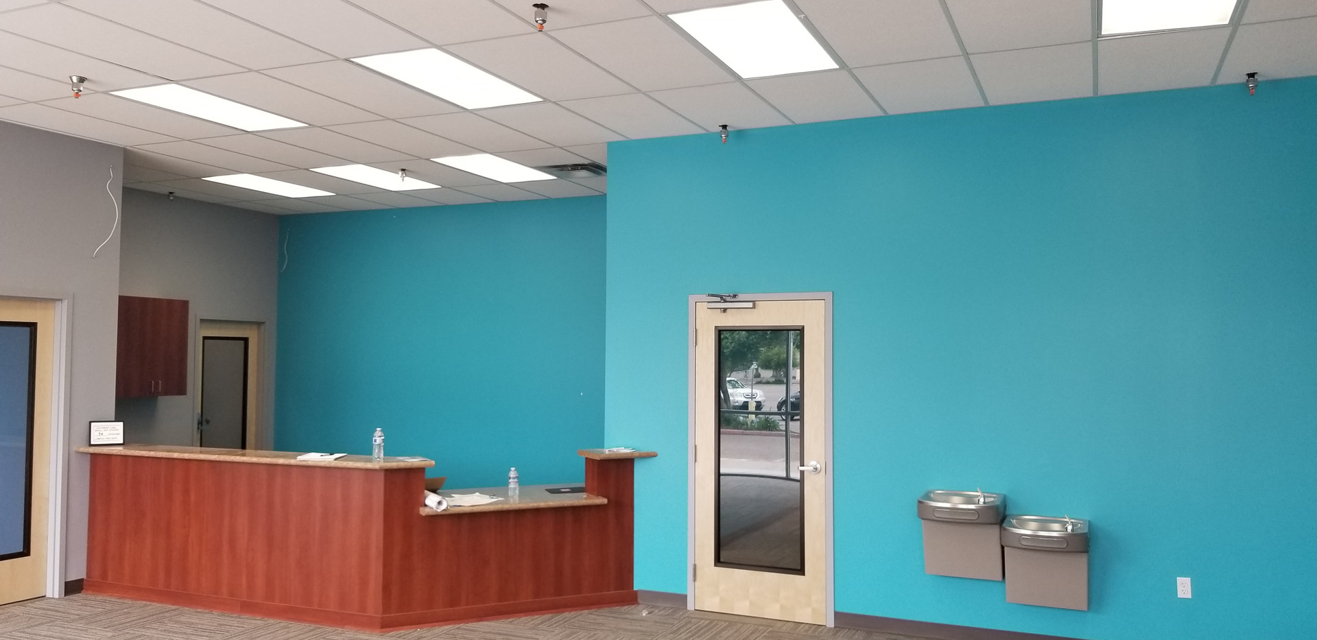 Patient Area w/ View of Drinking Fountains - Buildout Pros