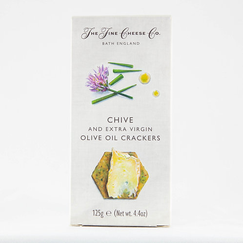 The Fine Cheese Co. Crackers -  Chive and Olive Oil 125g