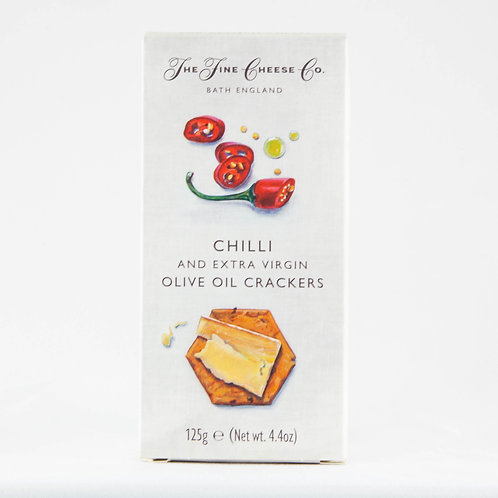 The Fine Cheese Co. Crackers -  Chilli and Olive Oil 125g