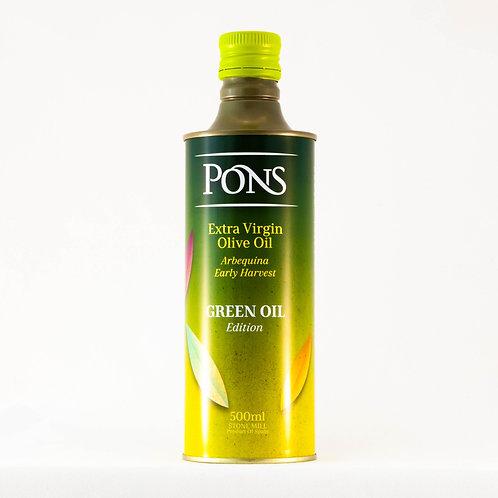 Pons Extra Virgin Olive Oil - Green Oil 500mls