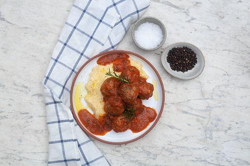 Meatballs & Cheesy Polenta - Frozen