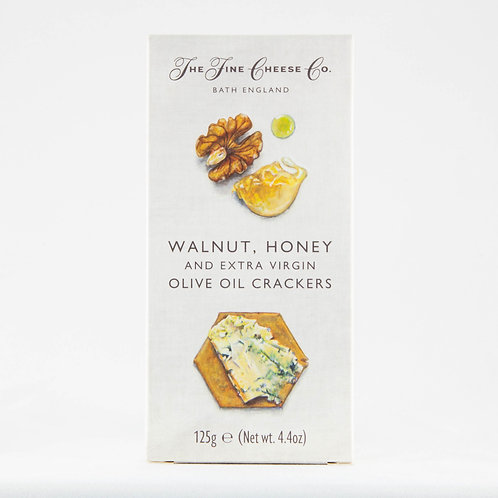The Fine Cheese Co. Crackers - Walnut and Honey 125g