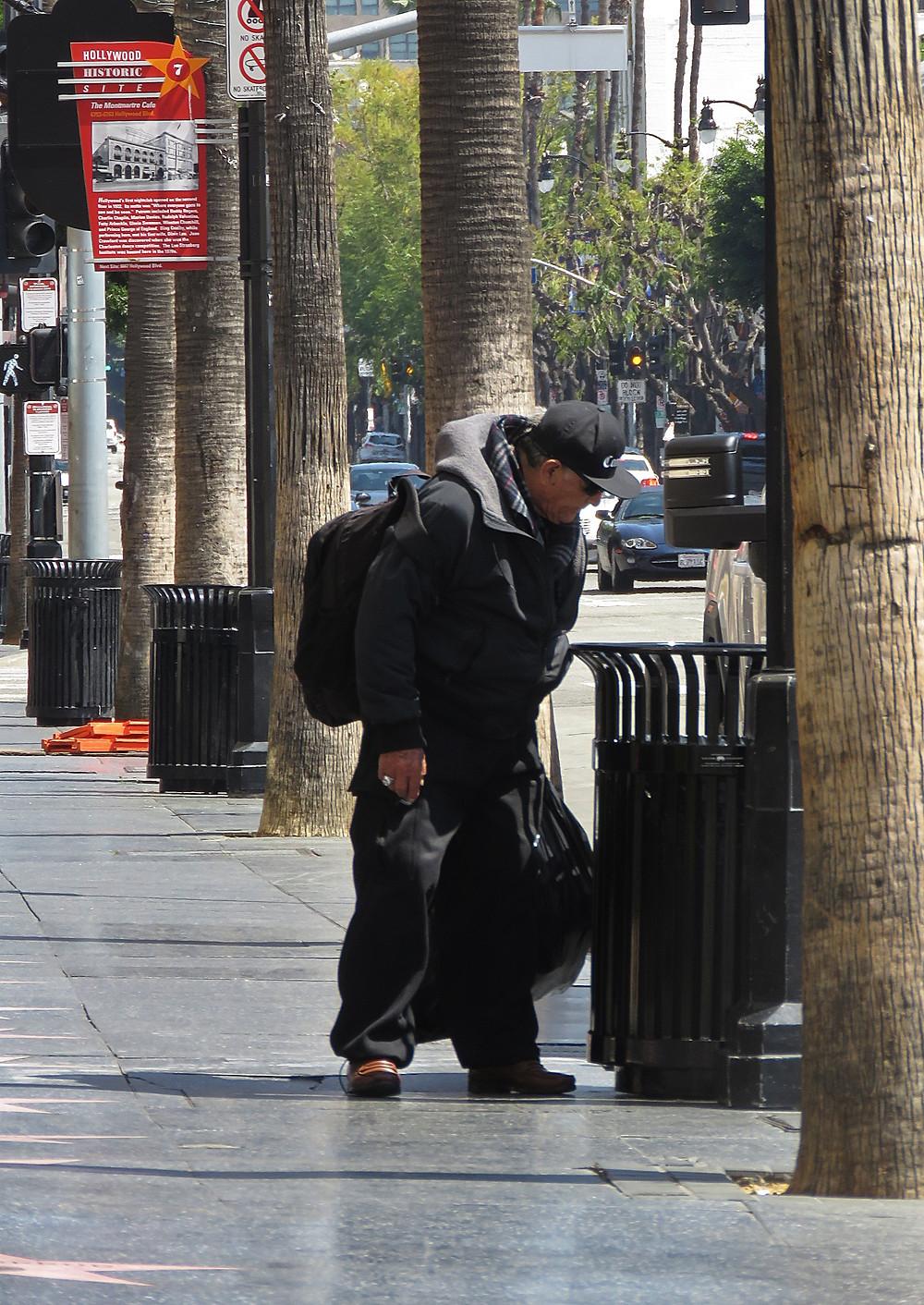 hollywood blvd homeless covid-19