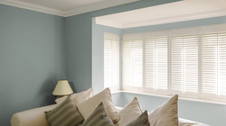 Bay-Window-Green-plymouth shutters and blinds